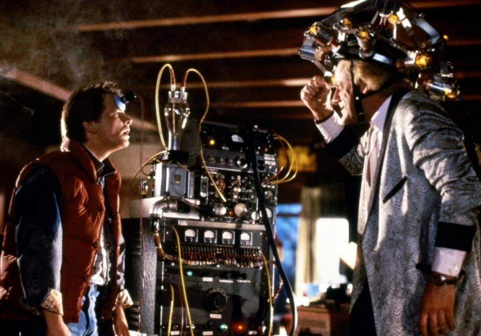 кадры из фильма Назад в будущее Майкл Джей Фокс, Кристофер Ллойд (I),