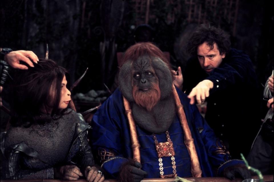 со съемок Планета обезьян Тим Бертон,