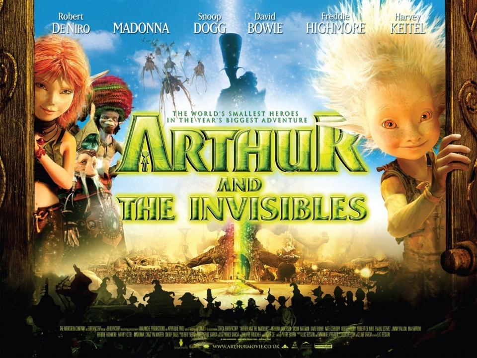 плакат фильма биллборды Артур и минипуты