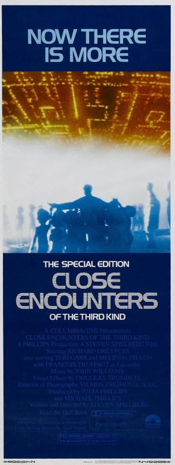 плакат фильма баннер Близкие контакты третьей степени