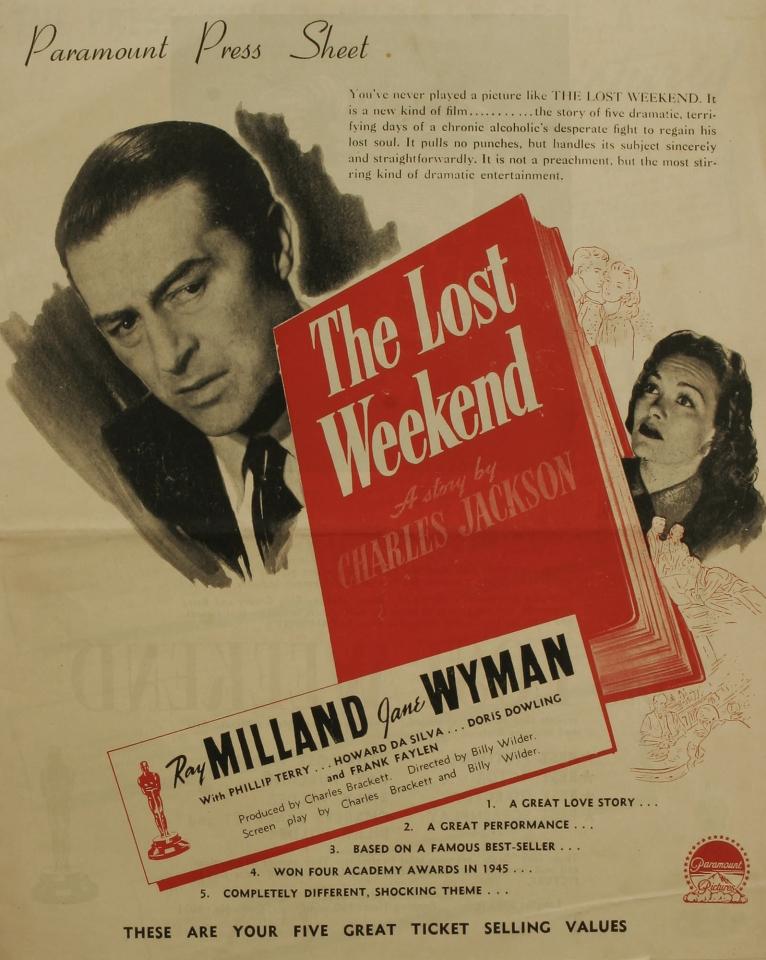 плакат фильма постер Потерянный уик-энд