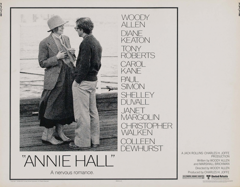 плакат фильма биллборды Энни Холл