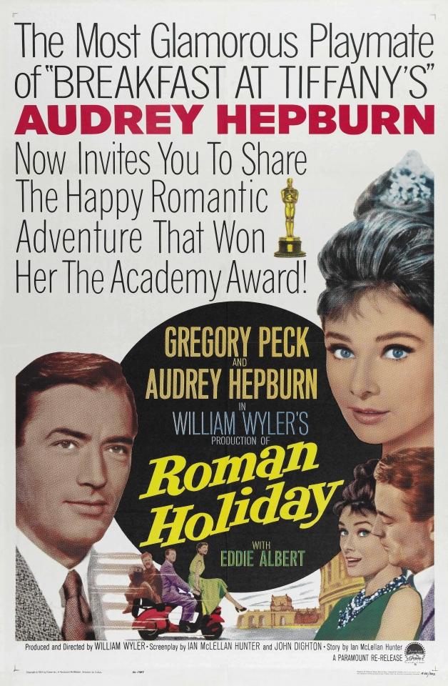 плакат фильма Римские каникулы