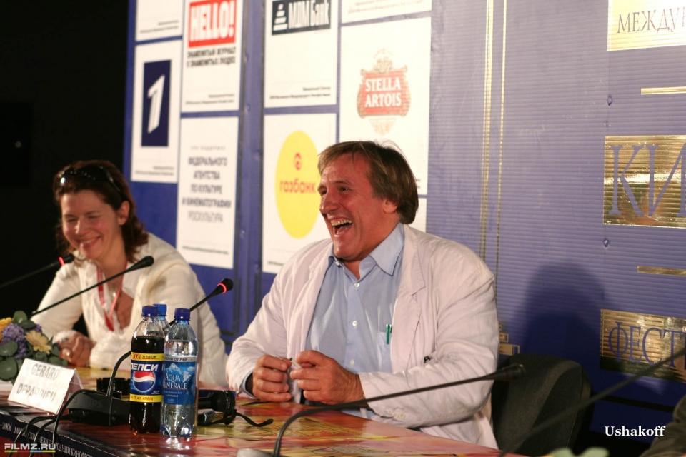 пресс-конференция эксклюзив Жерар Депардье Жерар Депардье,
