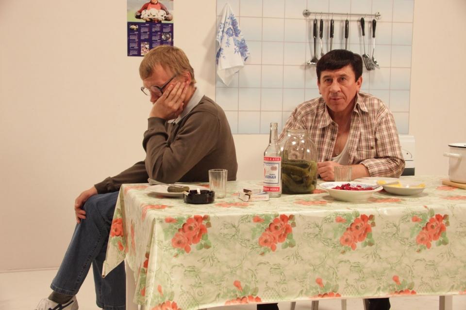 со съемок ПираМММида Алексей Серебряков, Владимир Пермяков,