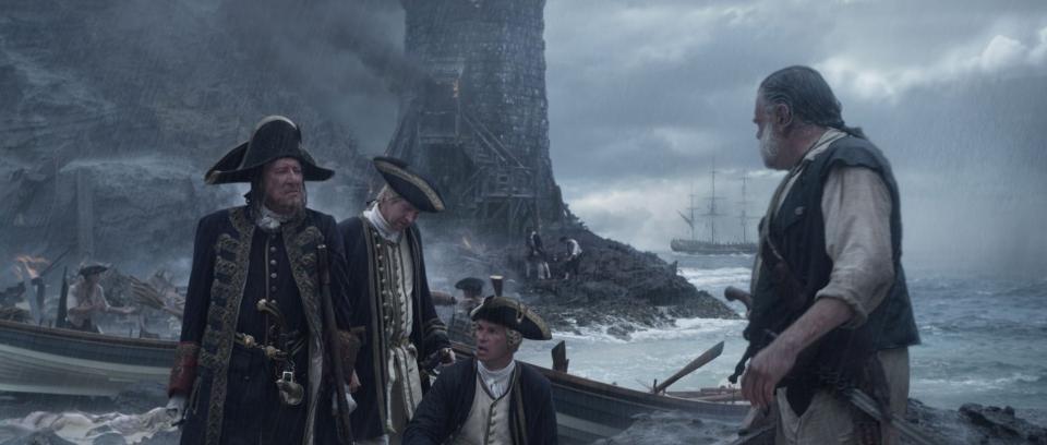 кадры из фильма Пираты Карибского моря: На странных берегах Джеффри Раш, Дэмиэн О'Хэйр, Грег Эллис, Кевин МакНэлли,