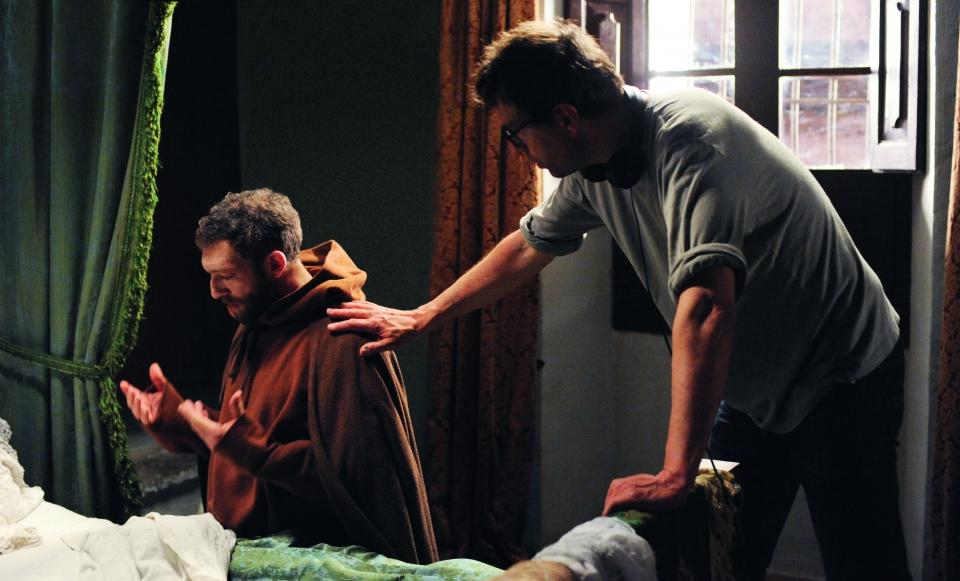 со съемок Монах Венсан Кассель, Доминик Молль,