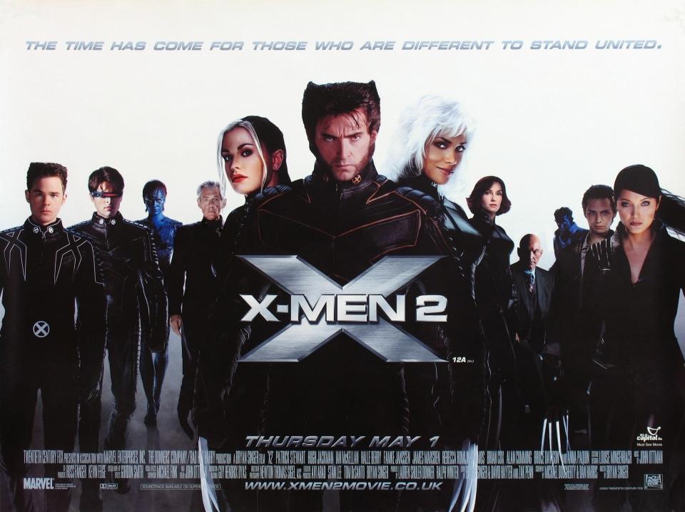 плакат фильма баннер Люди Икс 2