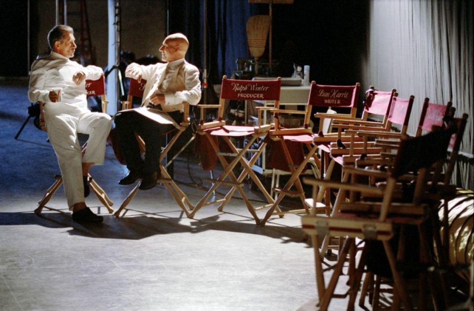 со съемок Люди Икс 2 Патрик Стюарт, Иэн МакКеллен,