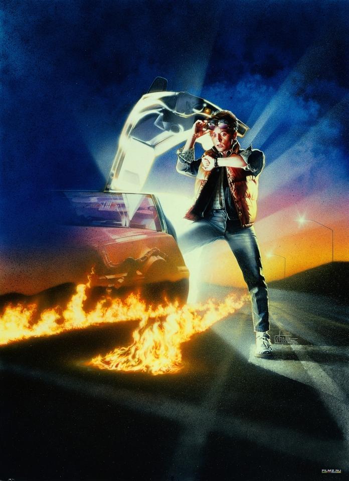 плакат фильма постер textless Назад в будущее