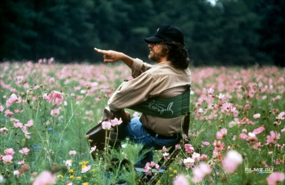 со съемок Цветы лиловые полей Стивен Спилберг,