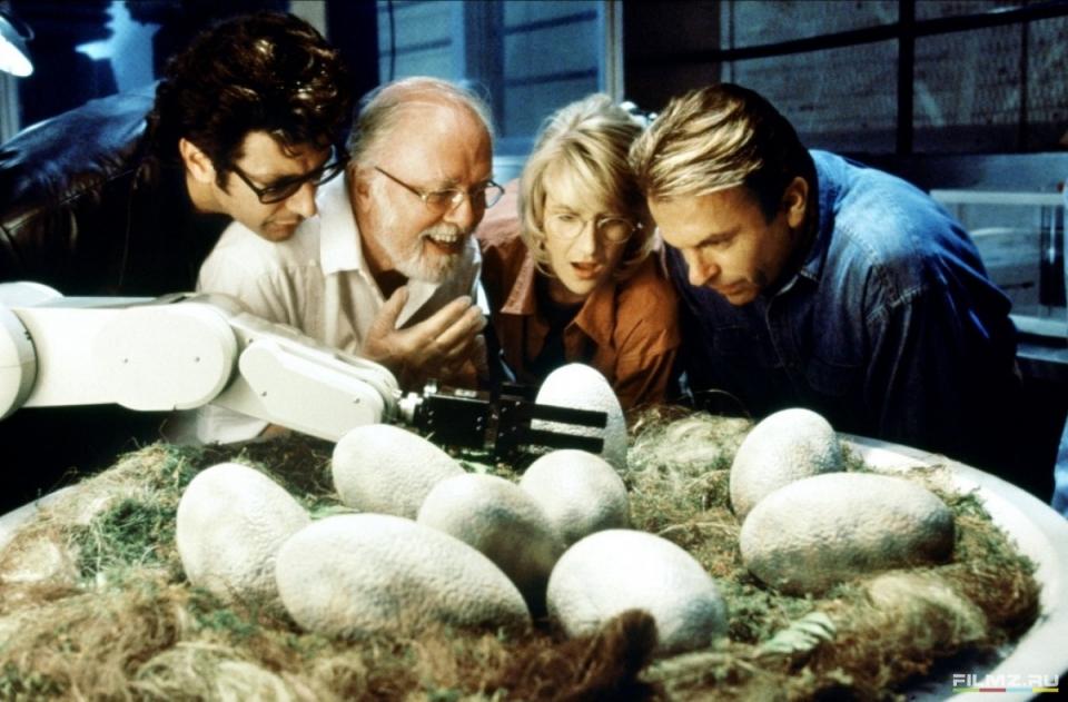кадры из фильма Парк Юрского периода Ричард Аттенборо, Лора Дерн, Сэм Нилл, Джефф Голдблюм,