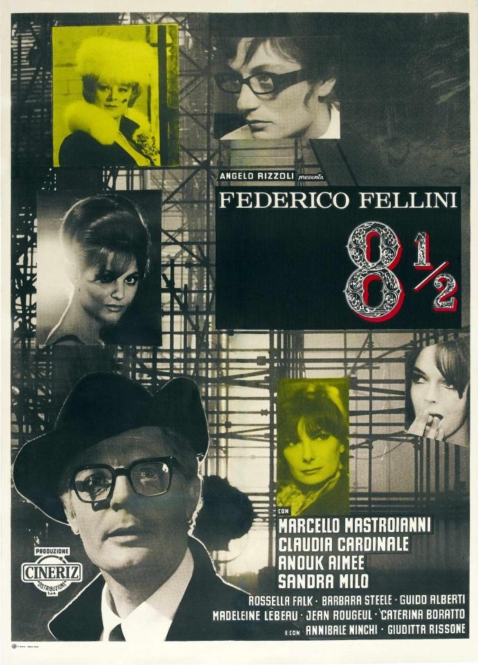 плакат фильма Восемь с половиной