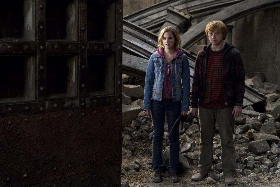 кадры из фильма Гарри Поттер и Дары Смерти: Часть вторая Эмма Уотсон, Руперт Гринт,