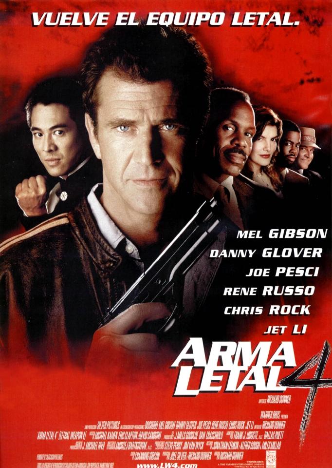 плакат фильма Смертельное оружие 4