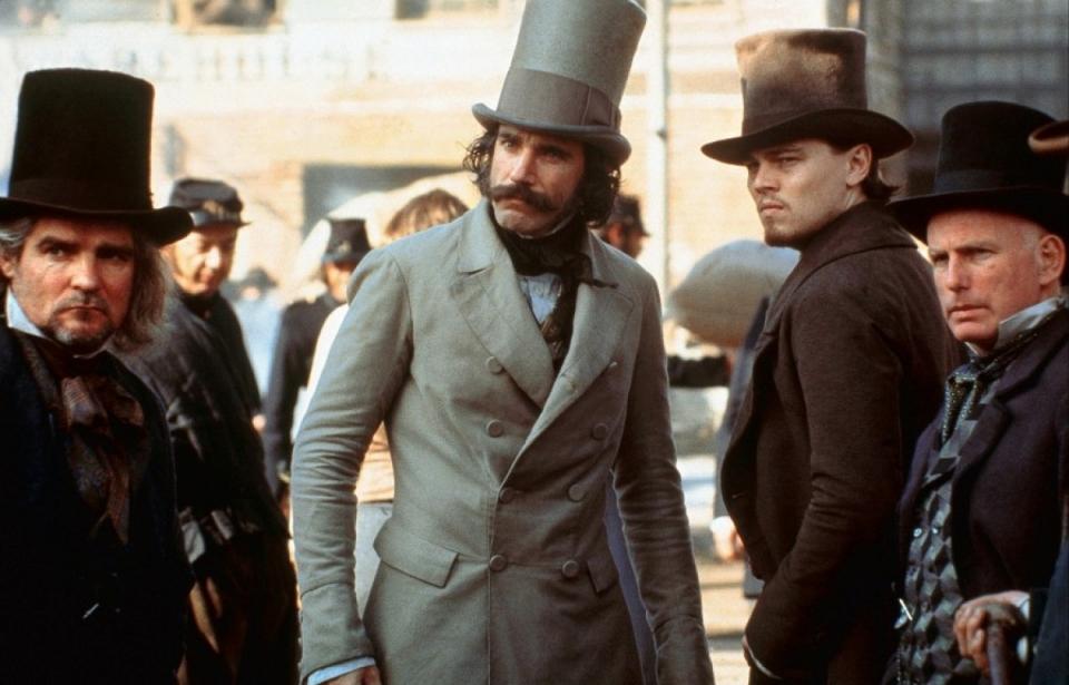 кадры из фильма Банды Нью-Йорка Гэри Льюис, Дэниэл Дэй-Льюис, Леонардо ДиКаприо,