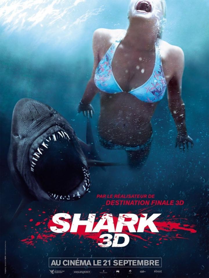 плакат фильма постер Челюсти 3D