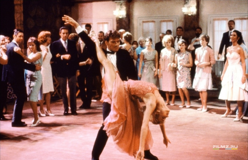 кадры из фильма Грязные танцы Патрик Суэйзи, Дженнифер Грей,