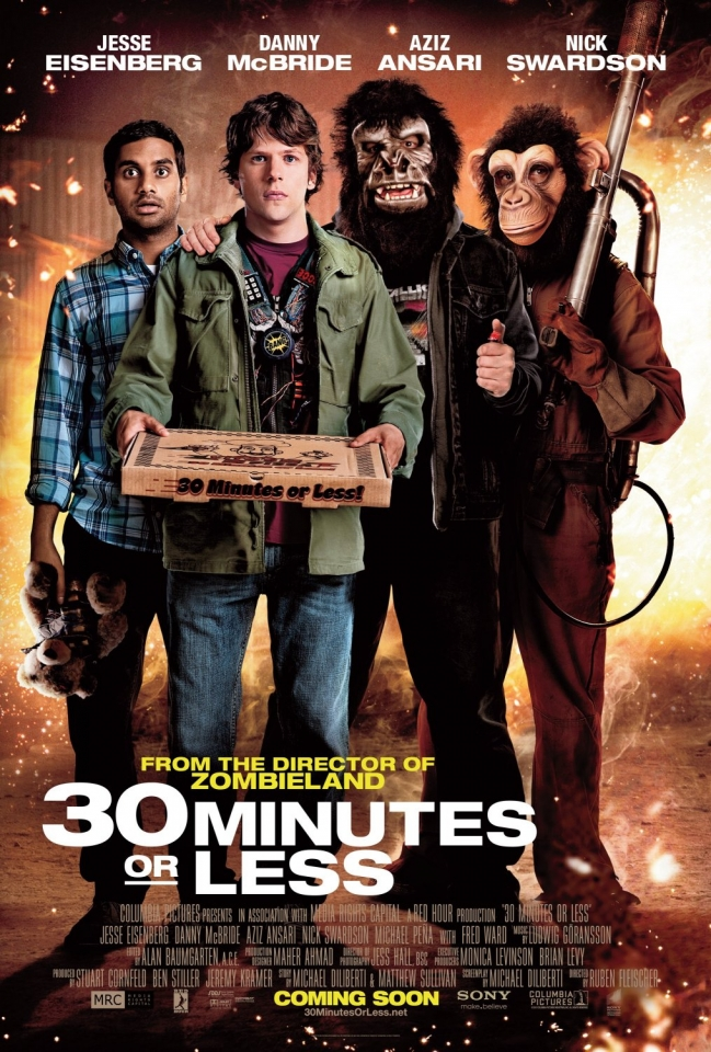 плакат фильма постер Успеть за 30 минут