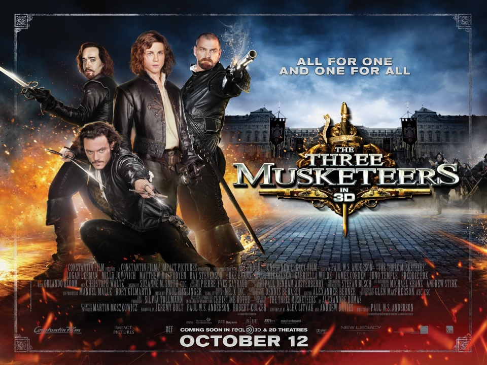 плакат фильма биллборды Мушкетеры