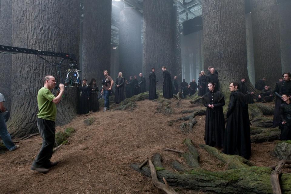 со съемок Гарри Поттер и Дары Смерти: Часть вторая Дэвид Йейтс,