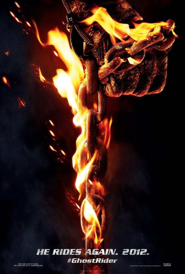 плакат фильма тизер Призрачный гонщик 2 в 3D