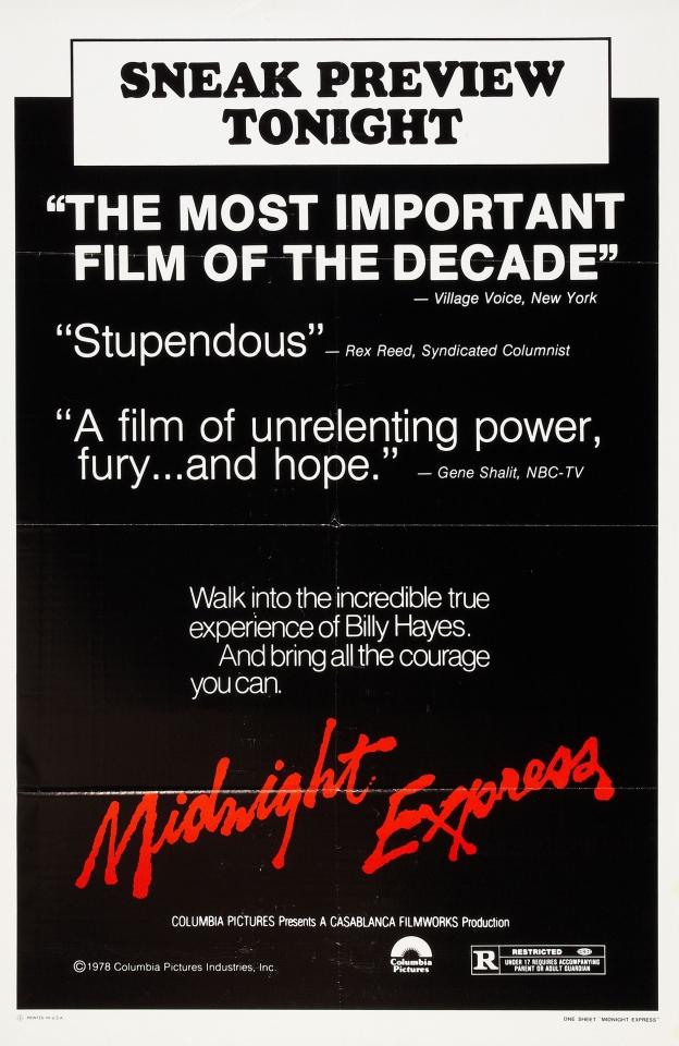 плакат фильма тизер Полуночный экспресс