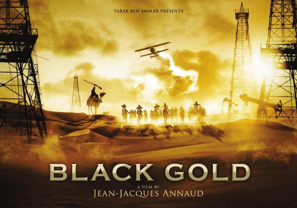 плакат фильма биллборды Черное золото