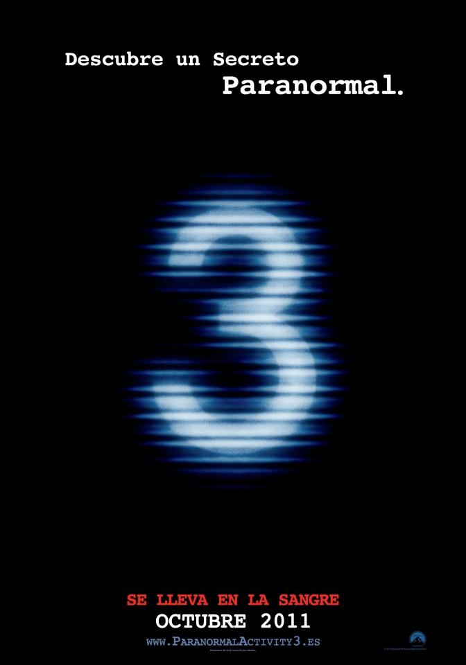 плакат фильма тизер Паранормальное явление 3