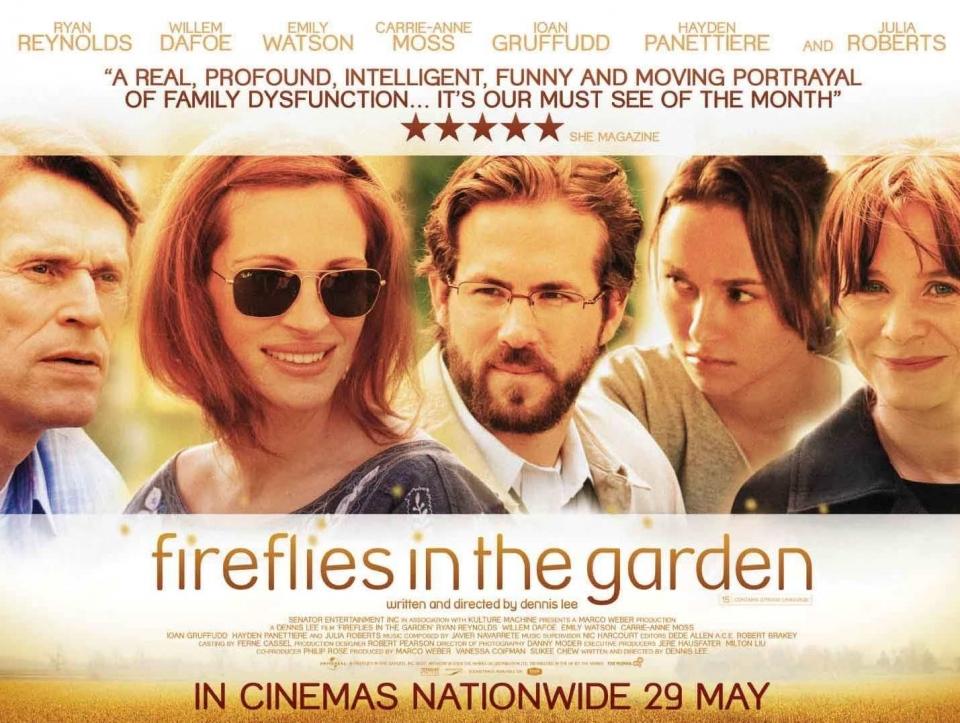 плакат фильма биллборды Светлячки в саду