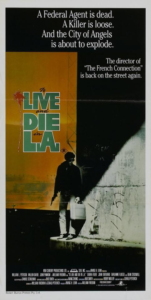плакат фильма баннер Жить и умереть в Лос-Анджелесе