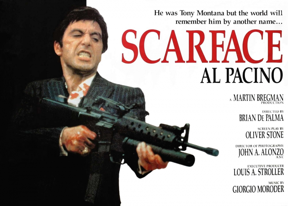 плакат фильма баннер Лицо со шрамом