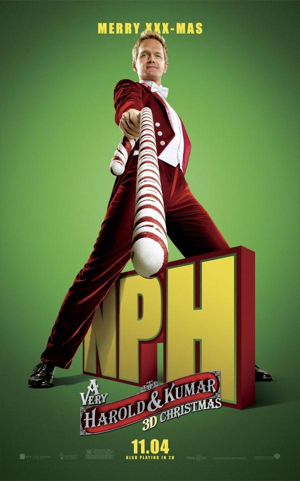 плакат фильма характер-постер Убойное Рождество Гарольда и Кумара