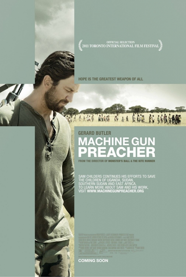 плакат фильма постер Проповедник с пулеметом