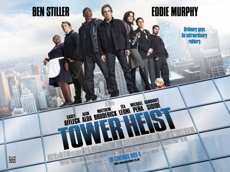 плакат фильма биллборды Как украсть небоскреб