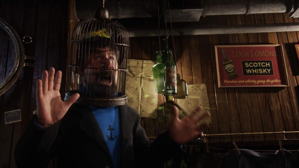 кадры из фильма Приключения Тинтина: Тайна единорога Энди Серкис,