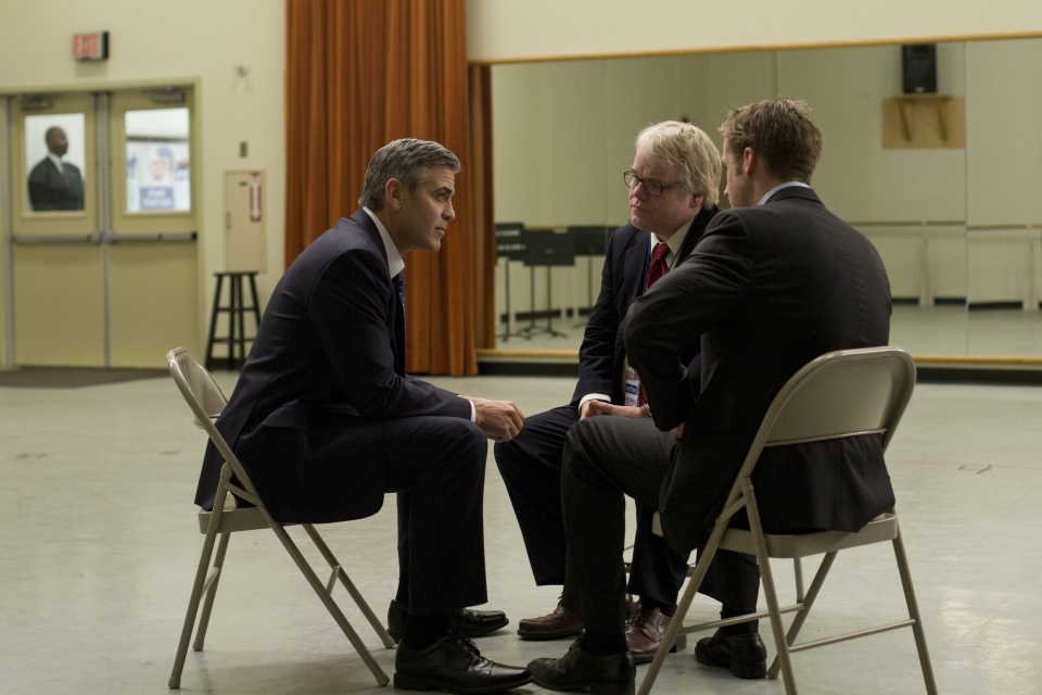 кадры из фильма Мартовские иды Джордж Клуни, Филип Сеймур Хоффман, Райан Гослинг,