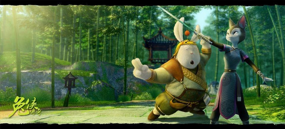 промо-слайды Кунг-фу кролик