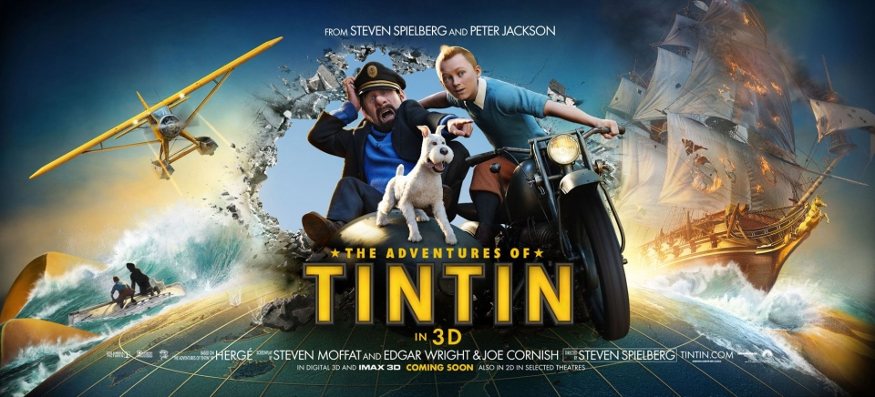 плакат фильма баннер Приключения Тинтина: Тайна единорога