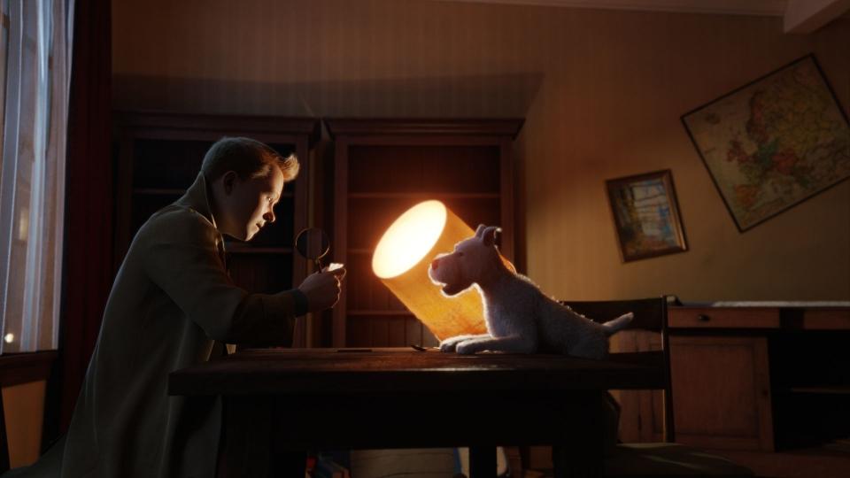 кадры из фильма Приключения Тинтина: Тайна единорога Джейми Белл,