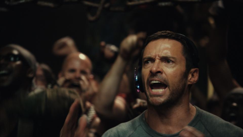 кадры из фильма Живая сталь Хью Джекмен,