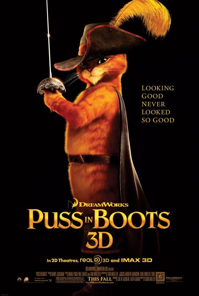 плакат фильма постер Кот в сапогах