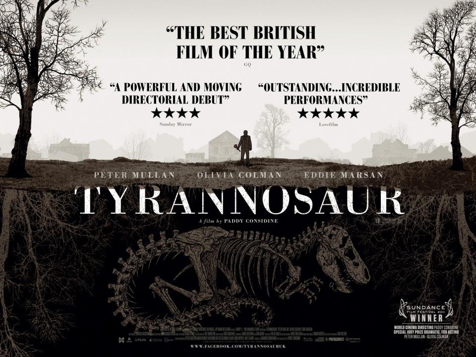 плакат фильма биллборды Тираннозавр