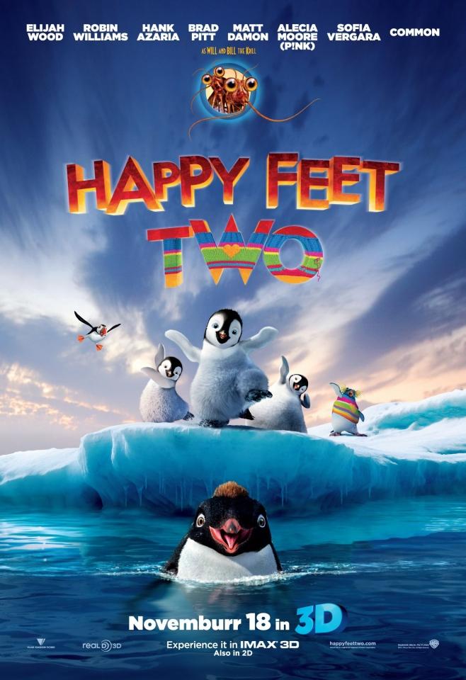 плакат фильма постер Делай ноги 2 в 3D