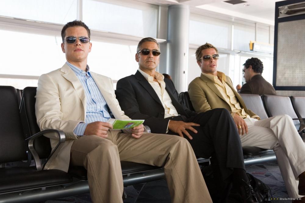 кадры из фильма Тринадцать друзей Оушена Мэтт Дэймон, Брэд Питт, Джордж Клуни,