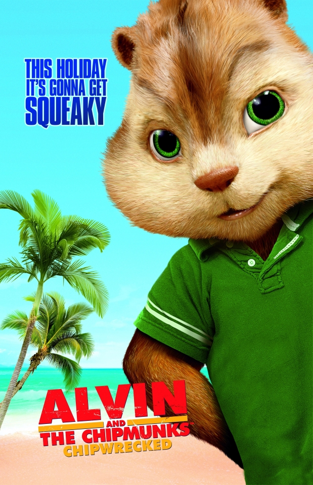плакат фильма характер-постер Элвин и бурундуки 3