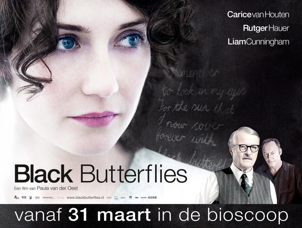 плакат фильма биллборды Черные бабочки