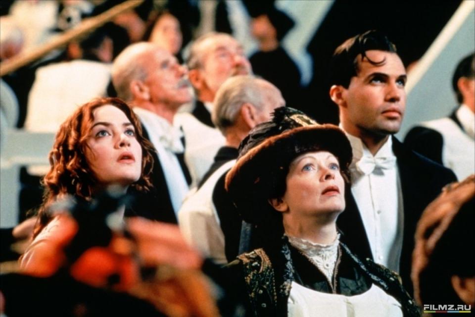 кадры из фильма Титаник Билли Зейн, Кейт Уинслет, Фрэнсис Фишер,