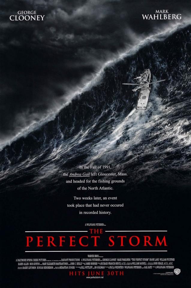 плакат фильма постер Идеальный шторм
