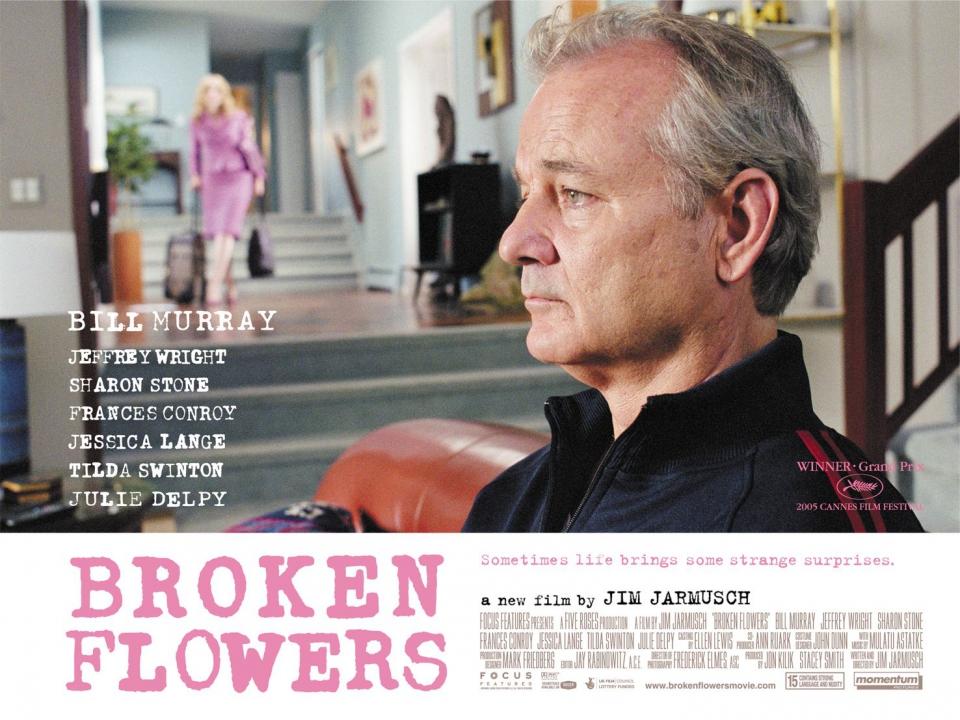 плакат фильма биллборды Сломанные цветы
